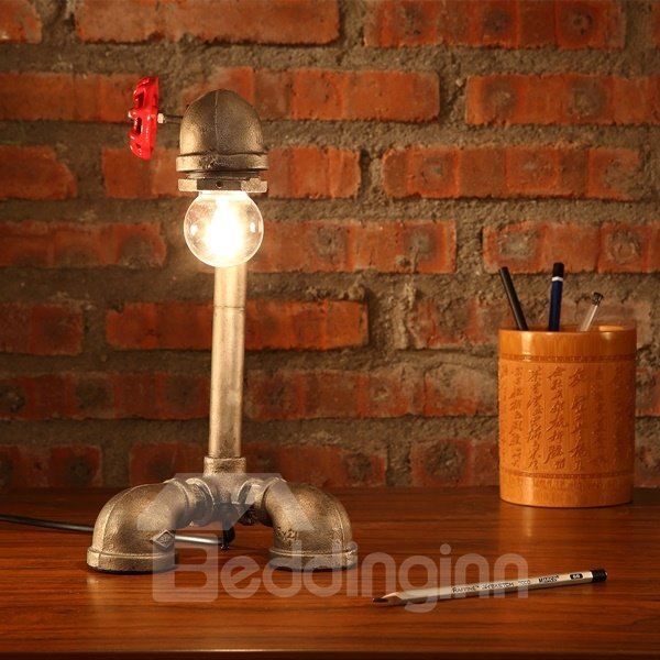 Unique Design Iron Pipe Shape Decorative Table Lamp