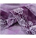 Noble Purple Paisley Pattern Jacquard 4-Piece Duvet Cover Sets