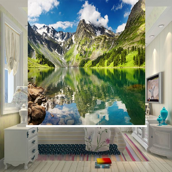 Spectacular Water and Mountain 3D Printing Blackout Roller Shades