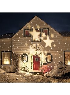 Decorative Warm White Stars Pattern Indoor Outdoor Projection LED Light