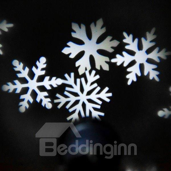 Amazing White Plastic Snowflake Shape Indoor Outdoor Projection LED Light