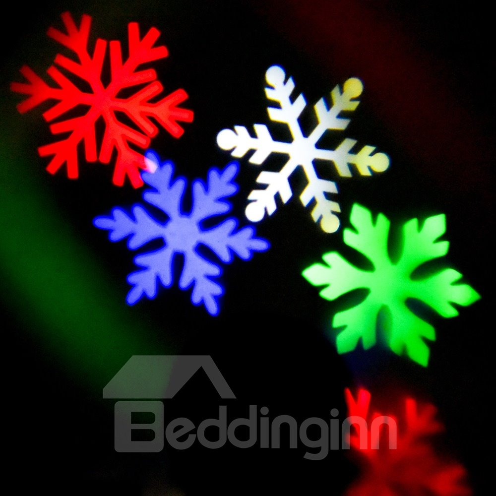 Colorful Plastic Snowflakes Shape Decorative Projection LED String Light