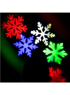 Colorful Plastic Snowflakes Shape Decorative Projection LED String Light