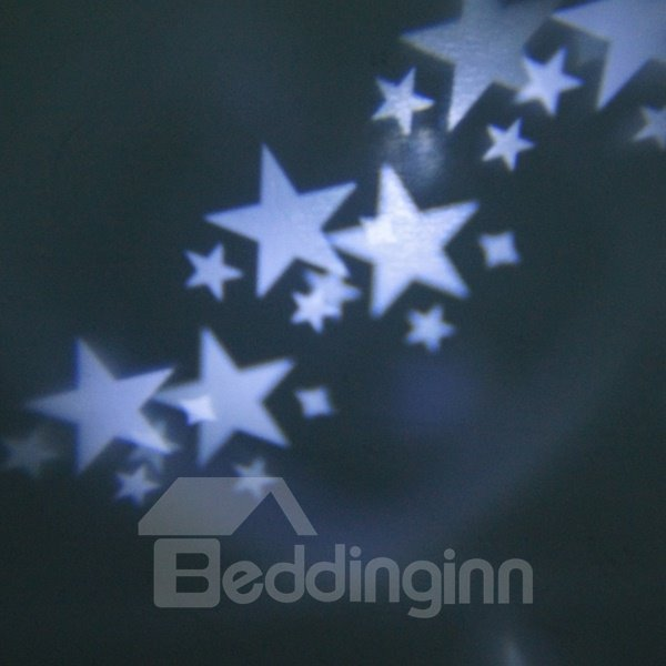 Romantic White Stars Pattern Projection LED Night Light