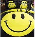 Chic Design Emoji Print Polyester 4-Piece Duvet Cover Sets