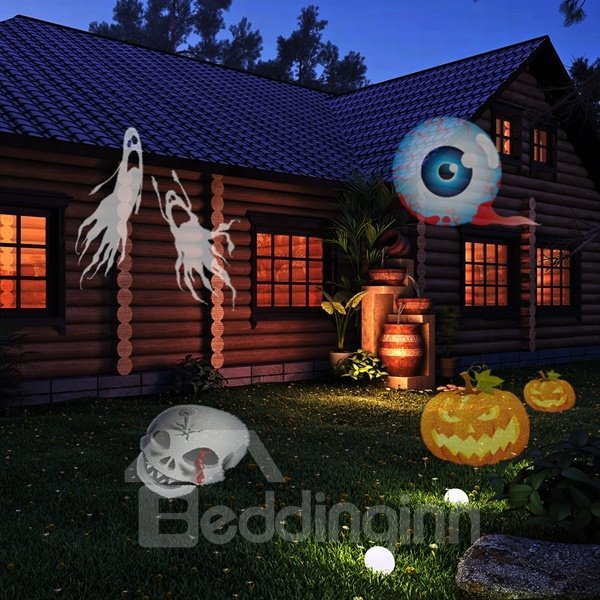 Creative Plastic 12 Festival Patterns Changing Projection LED Light