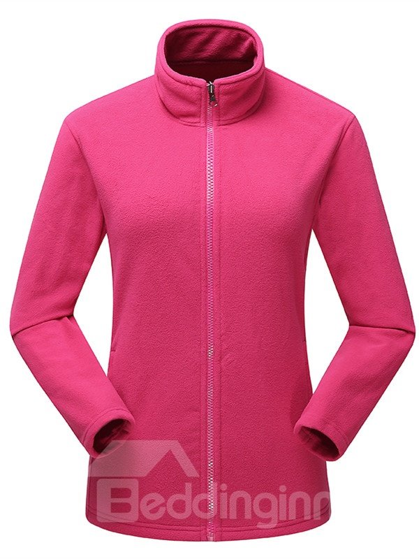 Female Outdoor 3 in 1 Windproof and Waterproof Warm Camping and Hiking 2 Piece Jacket