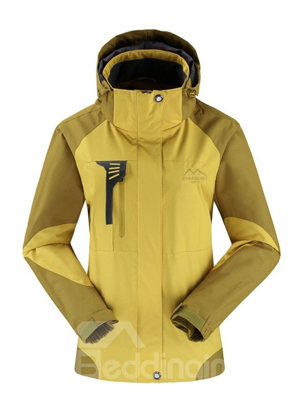 Female Outdoor Windproof Light Weight Front Zipper Camping and Hiking Jacket