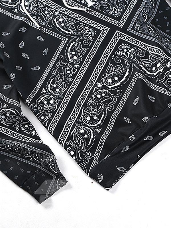 Long Sleeve Novetly Pattern Pocket 3D Painted Hoodie