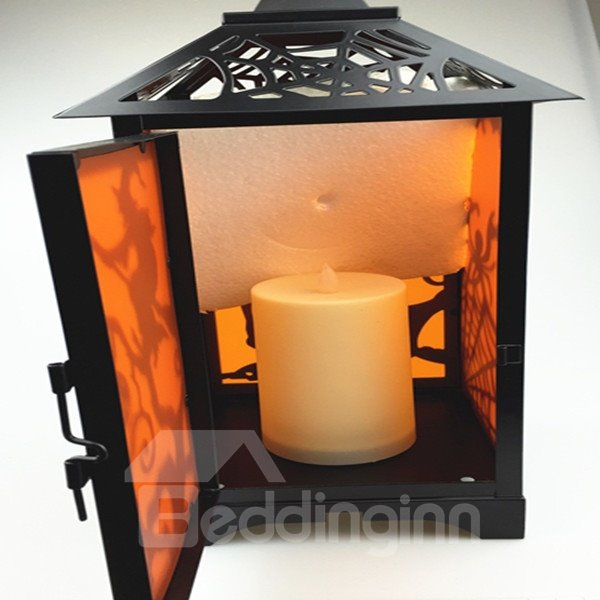 European Style Iron Witch Pattern Halloween Decoration Candle Holder