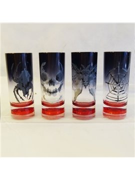 Creative Plastic 4 Patterns Halloween Decoration Wine Glasses