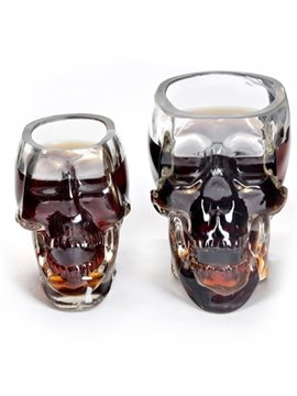 Transparent Glass Skull Shape Halloween Decoration Wine Glasses