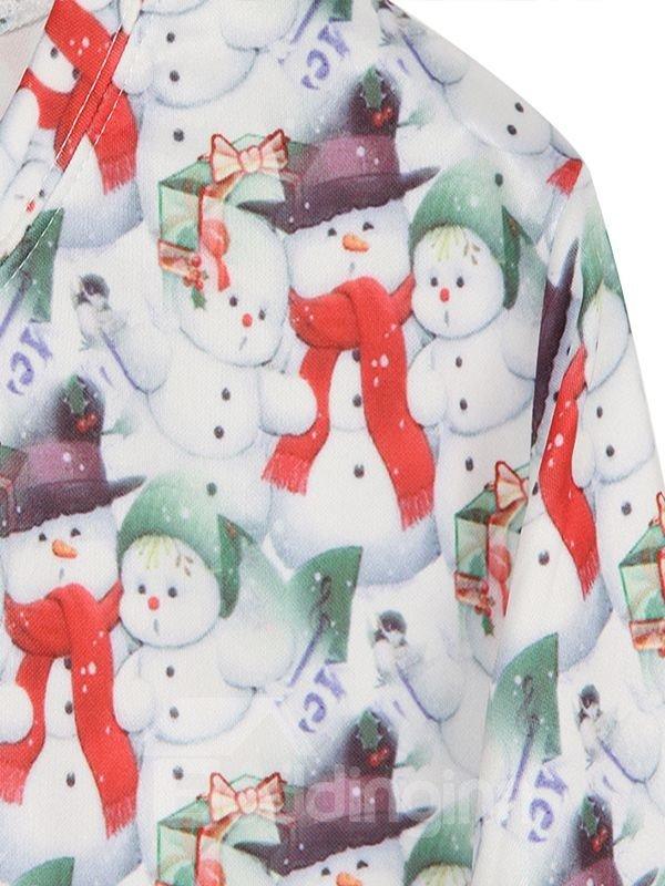 Christmas Style Snowmen Pattern 3D Painted Hoodie