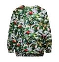 Christmas Style Long Sleeve Christmas Tree Pattern 3D Painted Hoodie