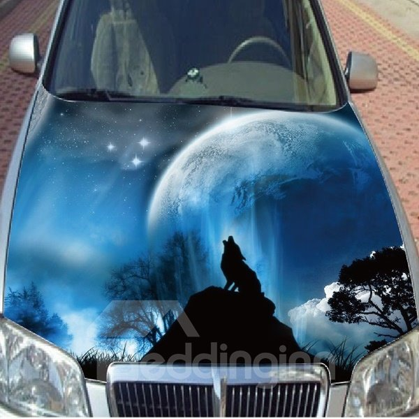 Wolf Roar Car Sticker