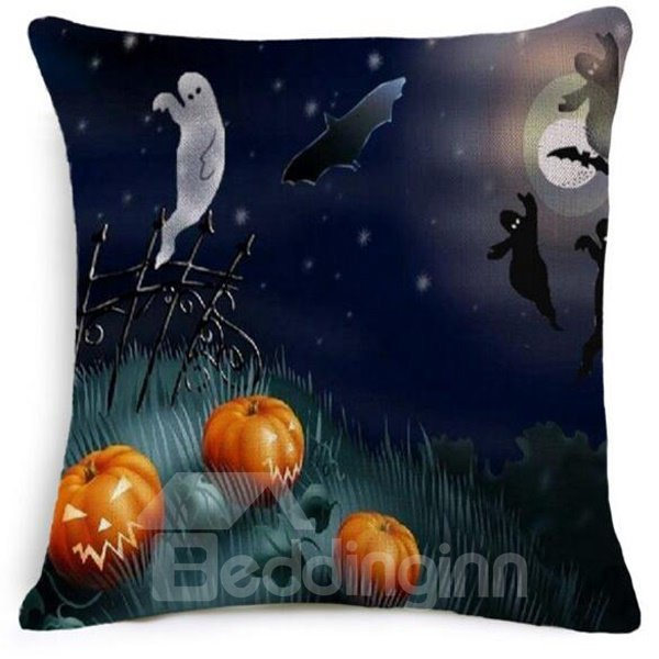 Halloween Party Pattern With Cute Pumpkin Modeling Comfortable Car Pillow