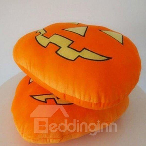 Exaggerated Terror Pumpkin Style Halloween Car Pillow