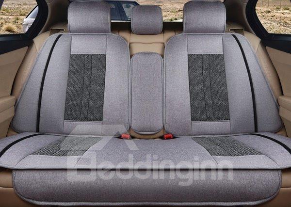 Luxurious Rubbing Classic Design Flax Universal Five Seven Car Seat Cover