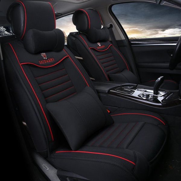 Sports Car Style Contrasting Colors Soft And Comfortable Design Universal Car Seat Cover