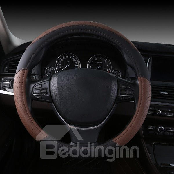 Fashional And Contrast Color Mixed Sport Style Car Steering Wheel Cover