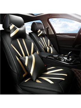 Cool Union Jack Style Design Popular Leather Material Five Or Seven Universal Car Seat Cover