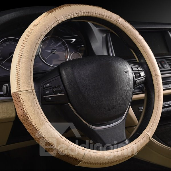 Luxury Contrast Color High Cost-Effective Car Steering Wheel Cover