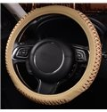 Attractive Solid With Deep Friction Leatherette Car Steering Wheel Cover
