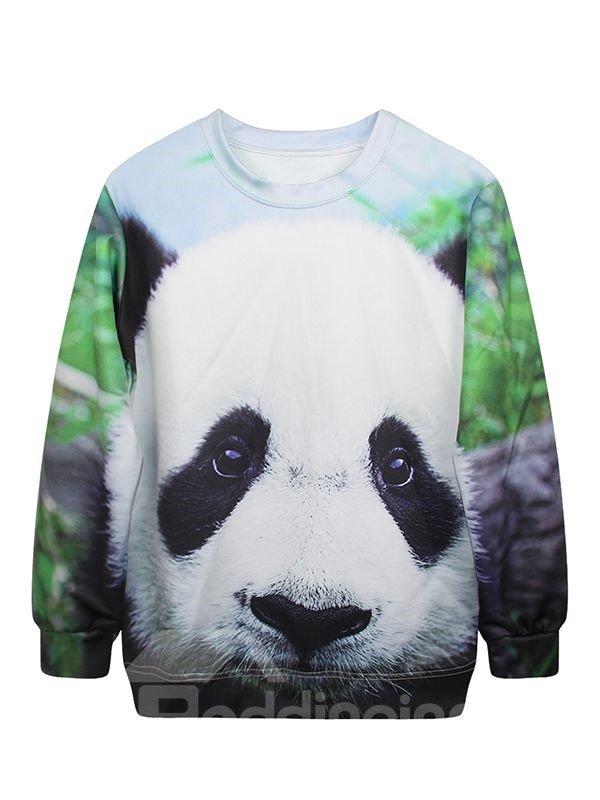 Cute Long Sleeve Panda Pattern 3D Painted Hoodie