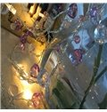 Artificial Colorful Crystal 3.2 Feet Length 10 Bulbs LED String Lights