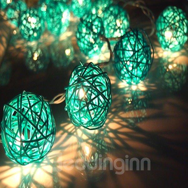 Decorative Green Vine Shape 6.5 Feet Length 20 Bulbs LED String Light