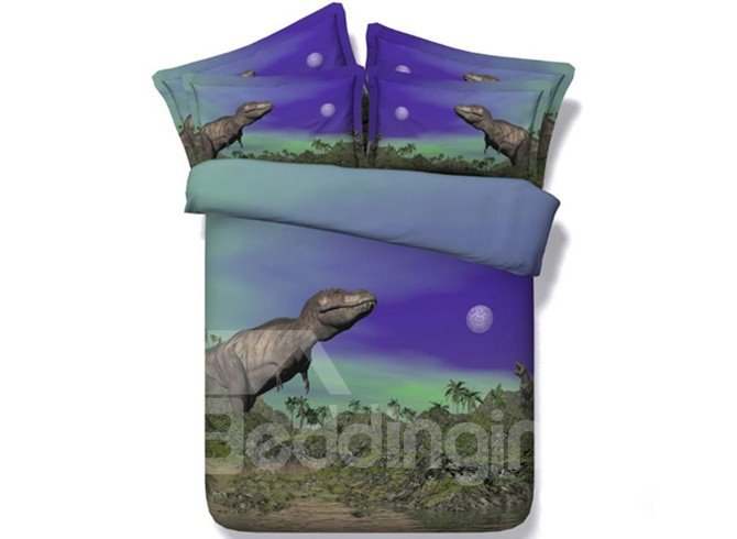 Lifelike 3D Dinosaur Digital Printing 4-Piece Duvet Cover Sets