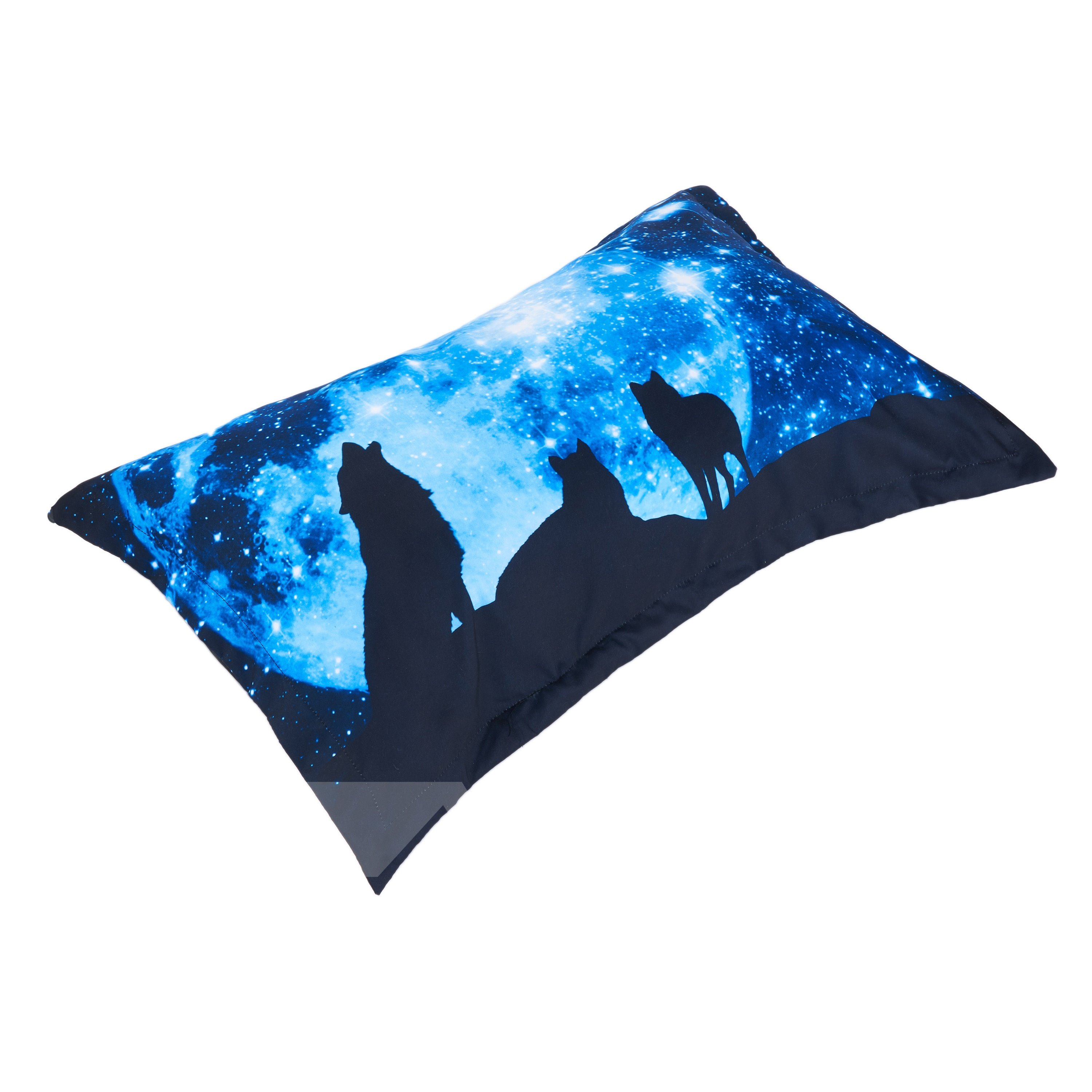 3D Galaxy and Wolf Digital Printing 5-Piece Comforter Sets