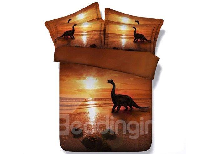 Fancy 3D Dinosaur Printed 5-Piece Comforter Sets