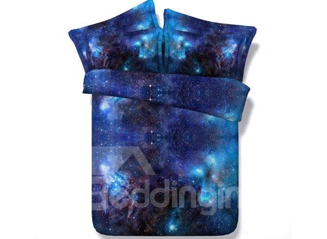 Beddinginn Galaxy Digital Printing Blue Sets Shining