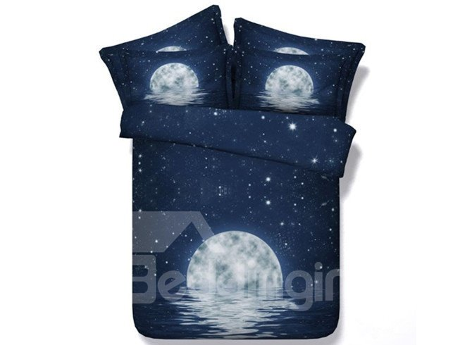 Mysterious Moon Night Print 5-Piece Comforter Sets