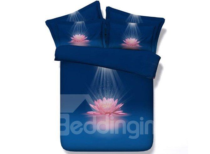 Pink Lotus Flower 3D Printed 5-Piece Comforter Sets