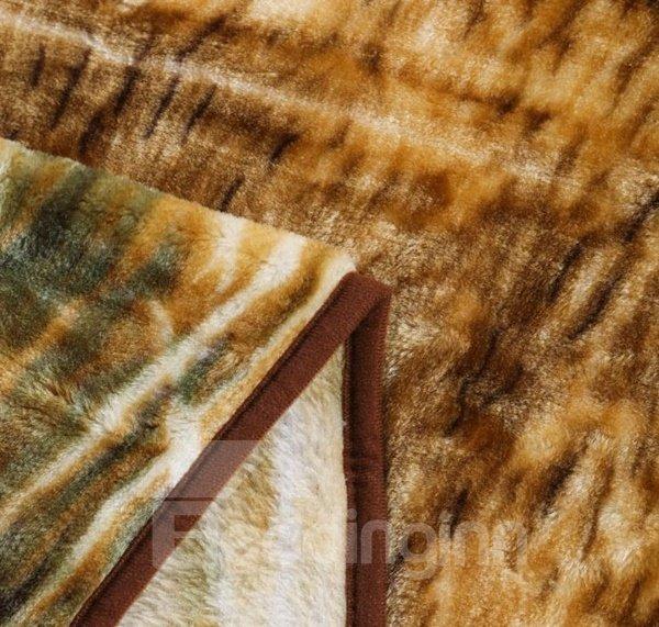 Vintage Style Cute Reindeer Print Raschel Blanket