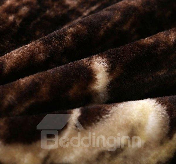 Popular Strong Black Bear Print Raschel Blanket