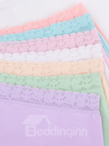 Five-Piece Colorful Cotton Material Super Flexible Sexy Underwear