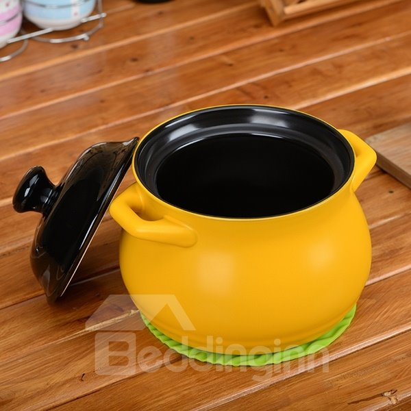 Creative Ceramic Heat-resisting With Lid Easy Clean 2.2L Stockpot