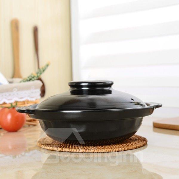 Black Ceramic Homeware High Temperature Resistance 1.5L Stockpot