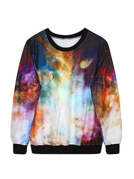 Long Sleeve Multicolor DIY Pattern 3D Painted Hoodie