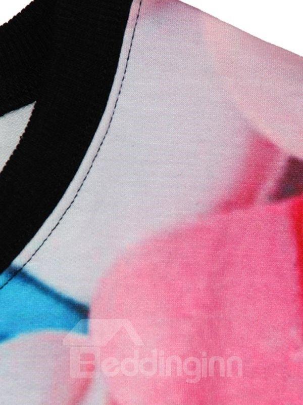 Long Sleeve Multicolor Tablet Pattern 3D Painted Hoodie