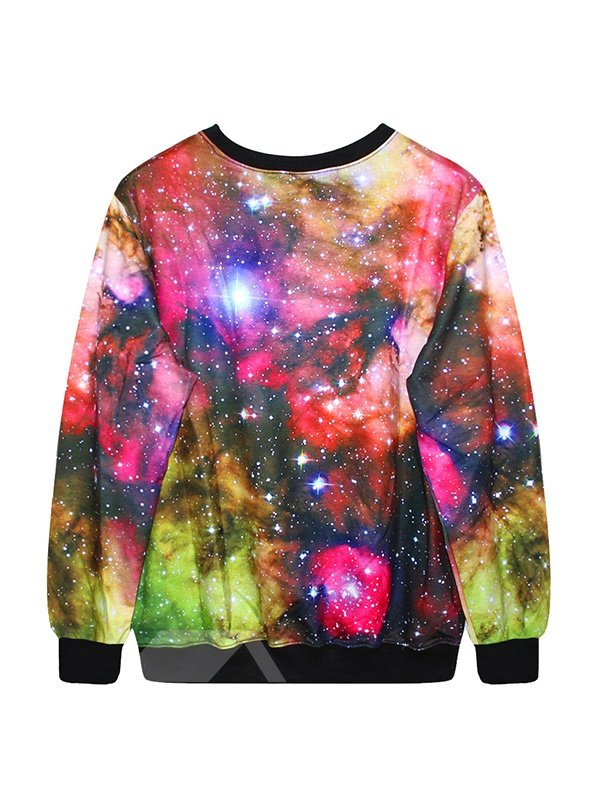 Colorful Galaxy Pattern 3D Painted Hoodie