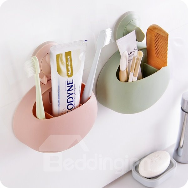 Concise Solid ABS Suction Toothbrush Holder