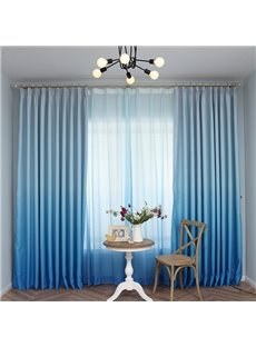 Gorgeous Sea Blue Gradient Color Custom Shading Curtain