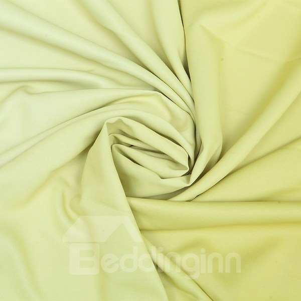 Gorgeous Lemon Yellow Gradient Color Custom Shading Curtain