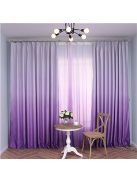 Gorgeous Purple Gradient Color Custom Shading Curtain