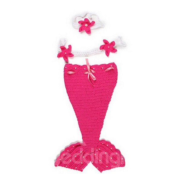Cute Knitted Crochet Mermaid Shaped Baby Cloth