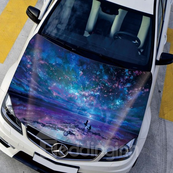 Splendid And Beautiful Colorful Star Sky Style Creative Car Sticker